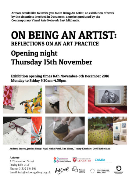 On being an artist: reflections on an arts practice Exhibition