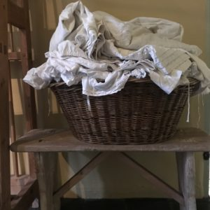 laundry basket at pickfords house